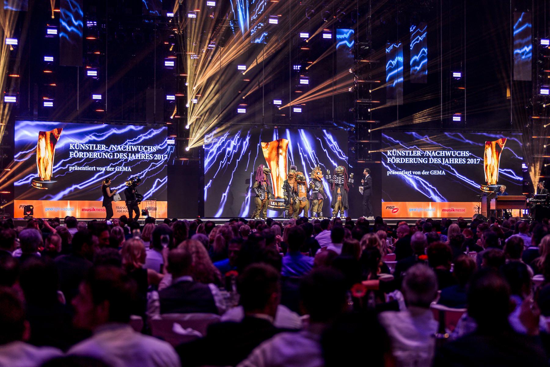 Eventfotos - Veranstaltungsfotograf - Heavysaurus beim LEA-Award in Frankfurt